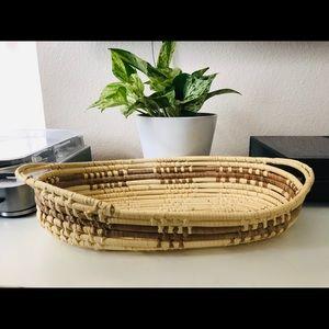 Boho Weaved Basket Tray
